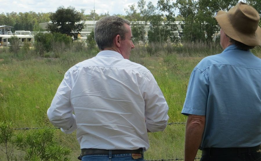 Page Nationals candidate Kevin Hogan during a tour of gasfields north west of Toowoomba