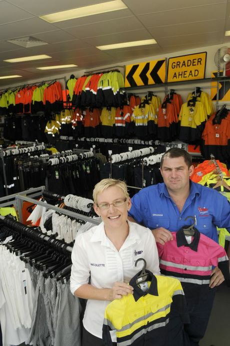 Graham Strang and his sister Nicolette Gormley from Hip Pocket Workwear and Safety in Anzac Av.