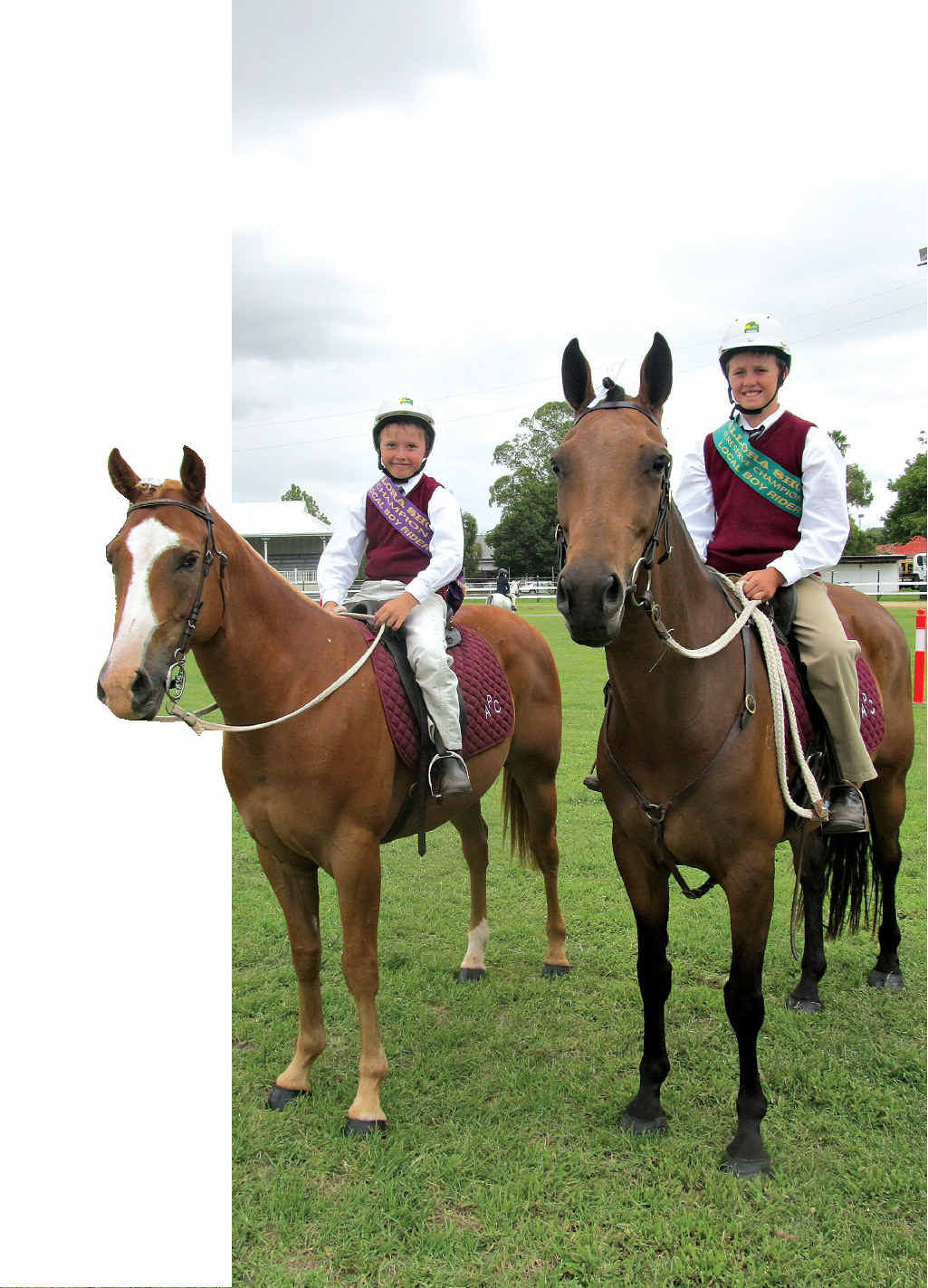 WINNING FAMILY: Champion Local Boy Rider and Reserve Champion Local Boy Rider at this year's Allora Show went to brothers Connor and Blake Feltham (respectively), of Clifton.