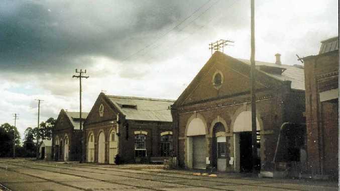 MOOD LIGHTING: Dorothy Kable captured the darker side of Warwick's railway buildings in this shot.