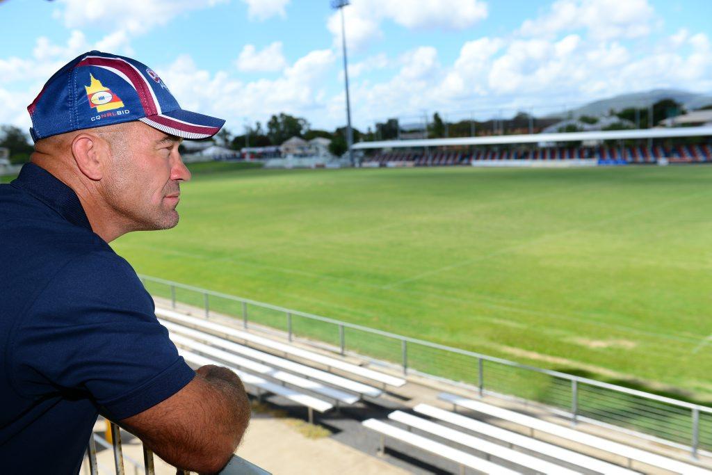 Jason Hetherington, Capras coach at Browne Park. Photo Sharyn O'Neill / The Morning Bulletin