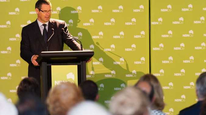 Senator Stephen Conroy at the NBN Launch, Coffs Harbour. Photo: Rob Wright/ The Coffs Coast Advocate