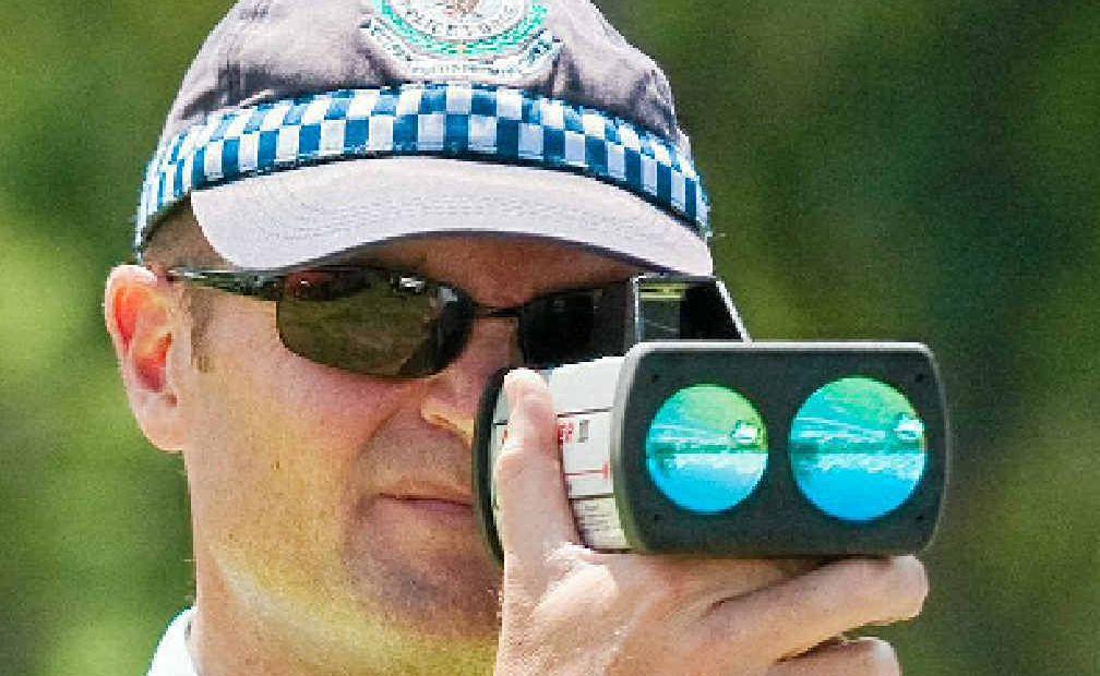 Highway patrol speed check - file photo