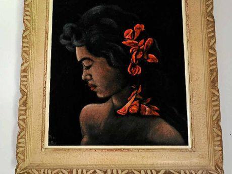 An original velvet painting by Perc Miller.