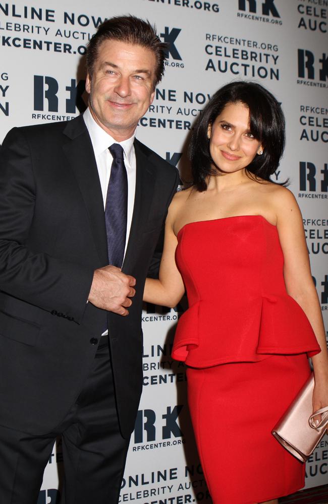 Alec Baldwin with his wife Hilaria.