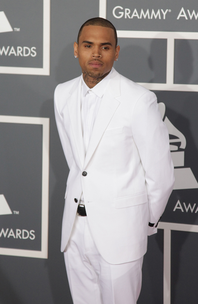 Chris Brown at the Grammys.