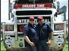 A couple have a great time at the Rocklea Truck show.