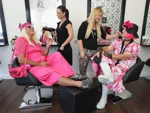 Councillors in drag for Variety Old Bags fundraising lunch