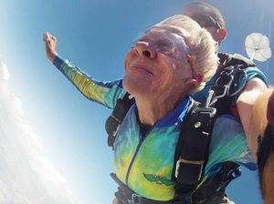 Daring Audrey dives into the high life at age 80