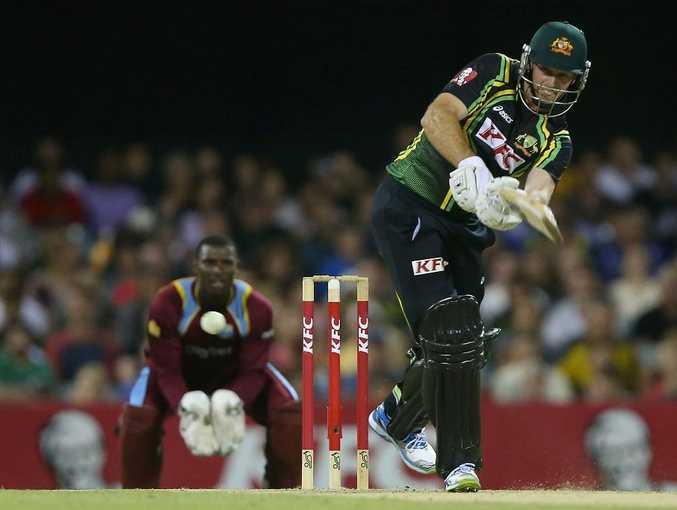 Ben Rohrer of Australia bats during the International Twenty20 match between Australia and the West Indies at The Gabba on February 13, 2013 in Brisbane, Australia.
