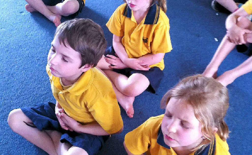 MINDFULNESS MEDITATION: Children at Blakebrook School.