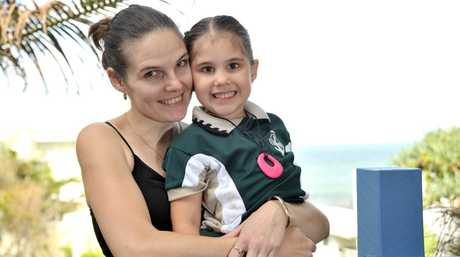 Erin Law with daughter Bailey at Spectrum Psychology, Coolum Beach.