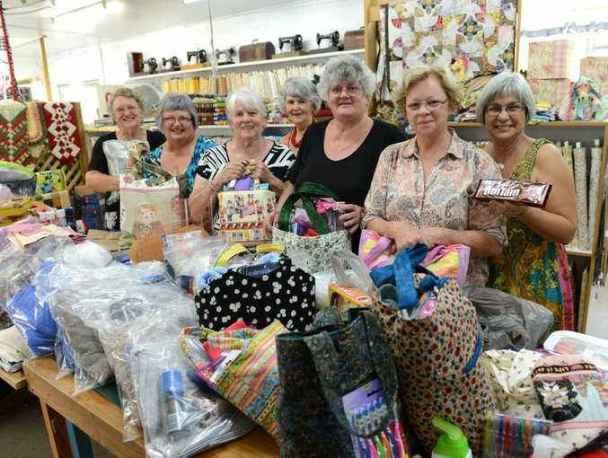 Gympie patchworkers have banded together to send care packages to victims of flood-ravaged Bundaberg.