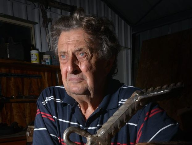 NO BARRAGE: Retired Fisherman John Olsen is against the Ben Anderson Barrage. Photo: Scottie Simmonds / NewsMail