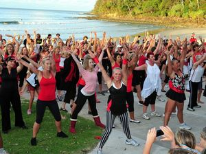 Women stay in step at Noosa as they dance against violence