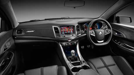 Inside the Holden VF Commodore SS V-Series show car.