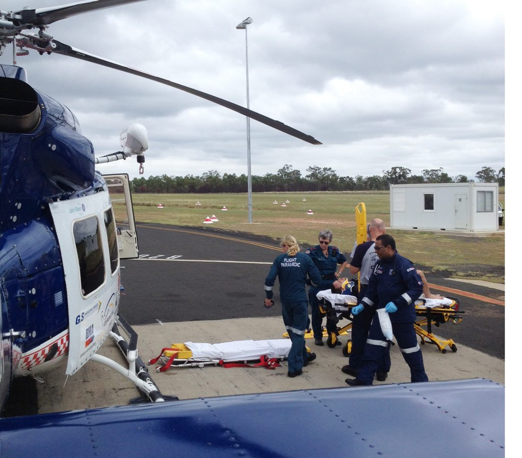 A man has sustained internal injuries after a wakeboarding accident at Theresa Creek Dam