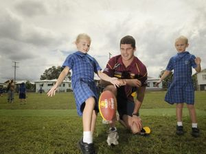 Lions players at Grantham School