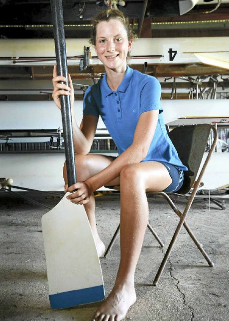 BUSY YEAR: Promising oarswoman Calla Gould-Whaley at the Lismore Rowing Club this week. Calla is in action at the NSW championships starting today.