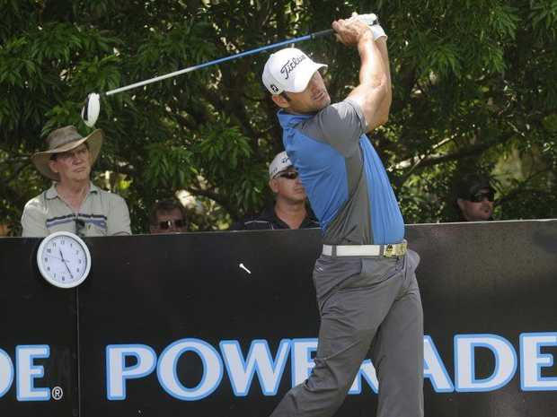 Michael Hendry leads the field into the final round of the Coca-Cola Queensland PGA Championship at City Golf Club.
