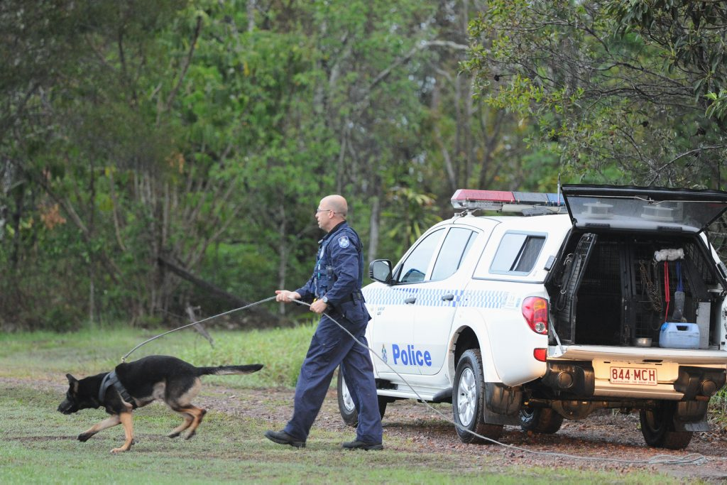 DOG SQAUD: Gladstone's dog squad has been called in to find the missing passengers.