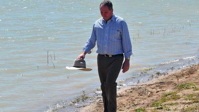 WATER WOES: Nationals senator Barnaby Joyce says building new dams is