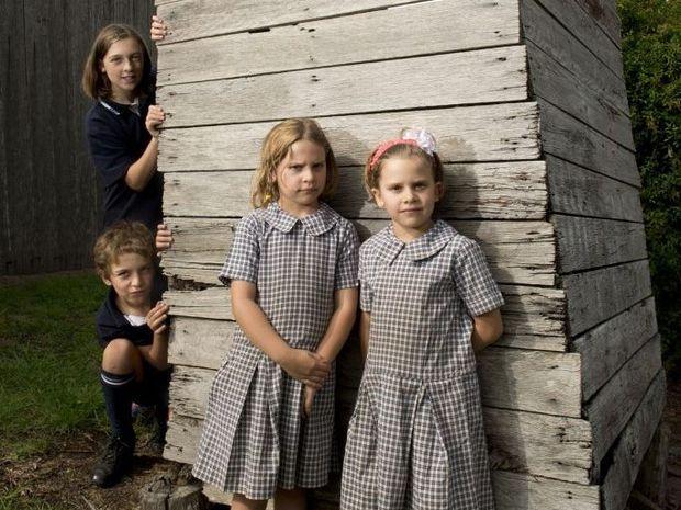 ( from left ) Selina Herbert and Lawson Herbert with Siane Lea and Aylah Lea . Bulls Head Inn