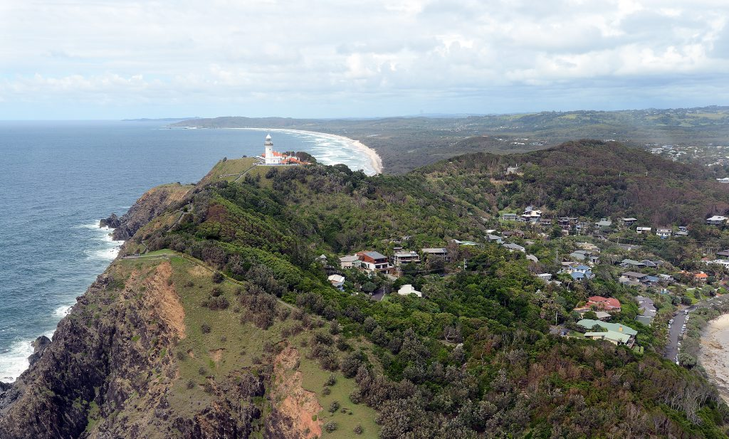 Aerial photograph of Cape Byron.