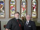Moderator of the Maryborough Presbyterian Church Reverend Wallace Brown and State moderator the Right Reverend David Niven prior to the service commemorating 150 years of the Presbyterian Church in Maryborough.