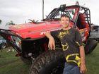 Cody Barrett beside a Nissan Patrol Competition truck.