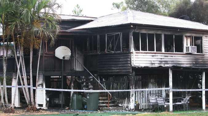 Aftermath of house fire at 21 Arnmold Street overnight Sunday 17 / Monday 18 Feb 2013. Photo: Chris Ison / The Morning Bulletin
