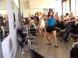 Hairdressers give the Harlem Shake a go