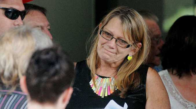 Vicki Blackburn wore a touch of colour to honour her daughter's love of life.