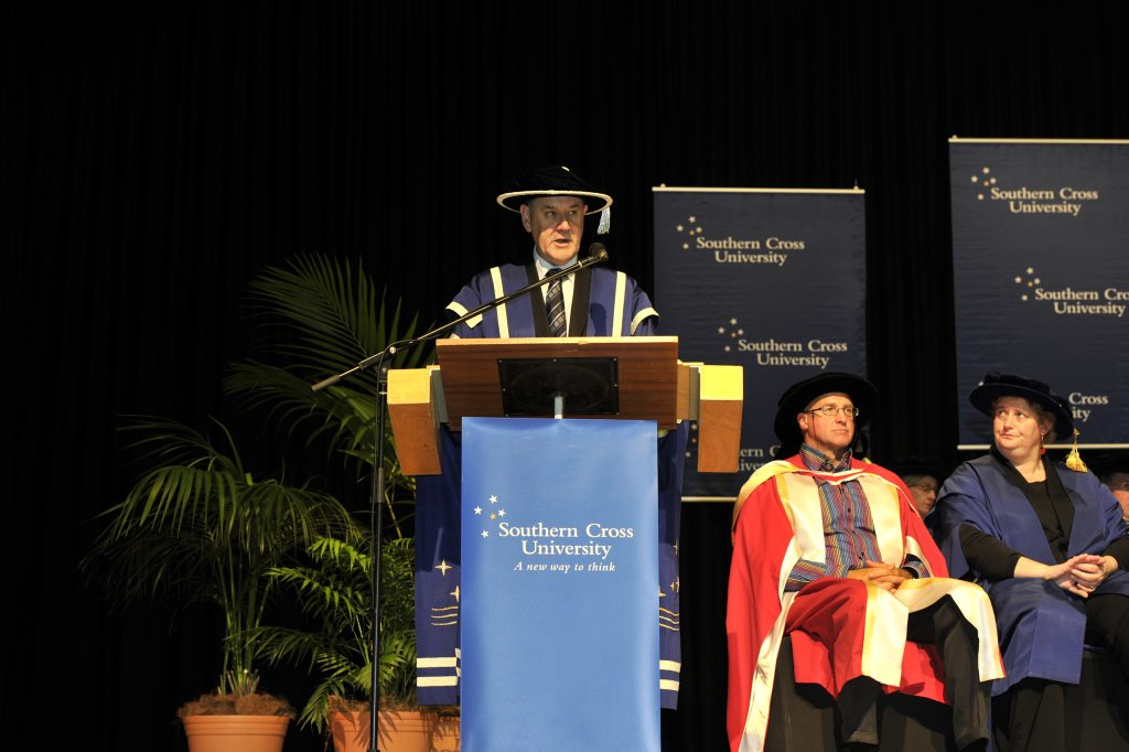 Southern Cross University Vice Chancellor Prof Peter Lee pictured during the university's 2012 graduation ceremony.