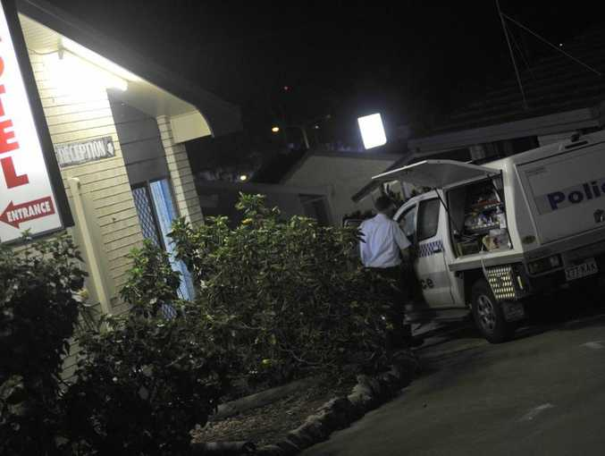 Police investigate the crime scene where a sex worker was allegedly murdered in Gladstone in 2010.