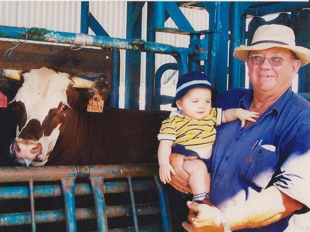 Michael Gibbs Senior with his grandson Mickey Gibbs.