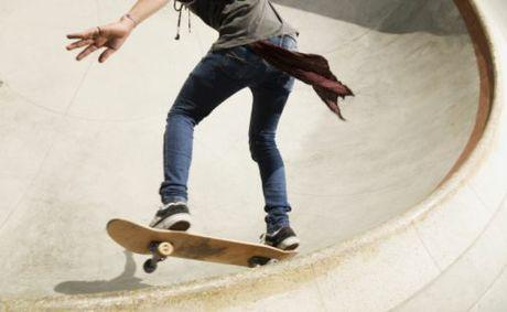 Skateboarding workshops at Highfields Skate Park.