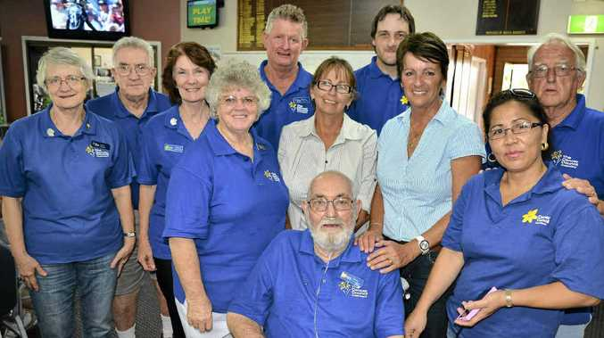 GOLF DAY: Cancer Council Queensland Warwick branch members at the charity day at the Warwick Golf Club included: (front) Andy Wilson with (back, from left) Carol Cooke, Terry Brown, Cheryl Christelow, Kay Wilson, Bruce Mauch, Rionne Lamberth, David Cunningham, Sheryl Simpson, Bernadette and Ken Hartnett.