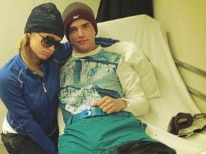 Paris' birthday ski trip ends in hospital visit