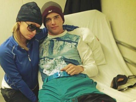 Paris Hilton and River Viiperi in hospital.
