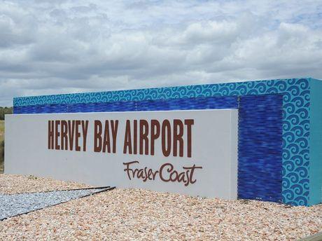 Hervey Bay Airport entrance.
