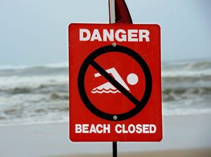 Beaches closed due to very rough surf conditions