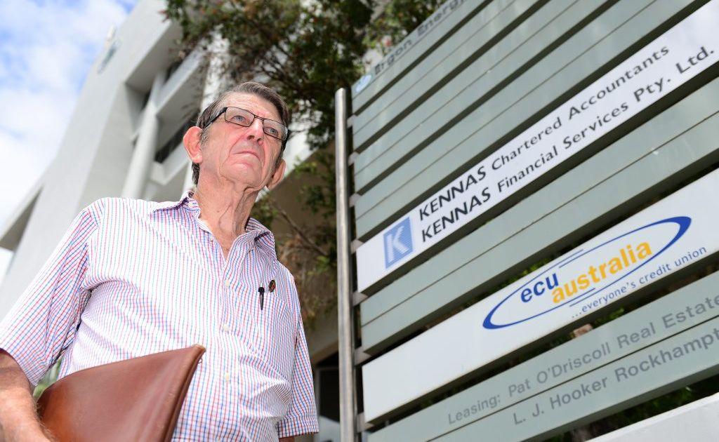 John Blanchfield is upset that the Rockhampton ECU branch is closing. Photo Sharyn O'Neill / The Morning Bulletin
