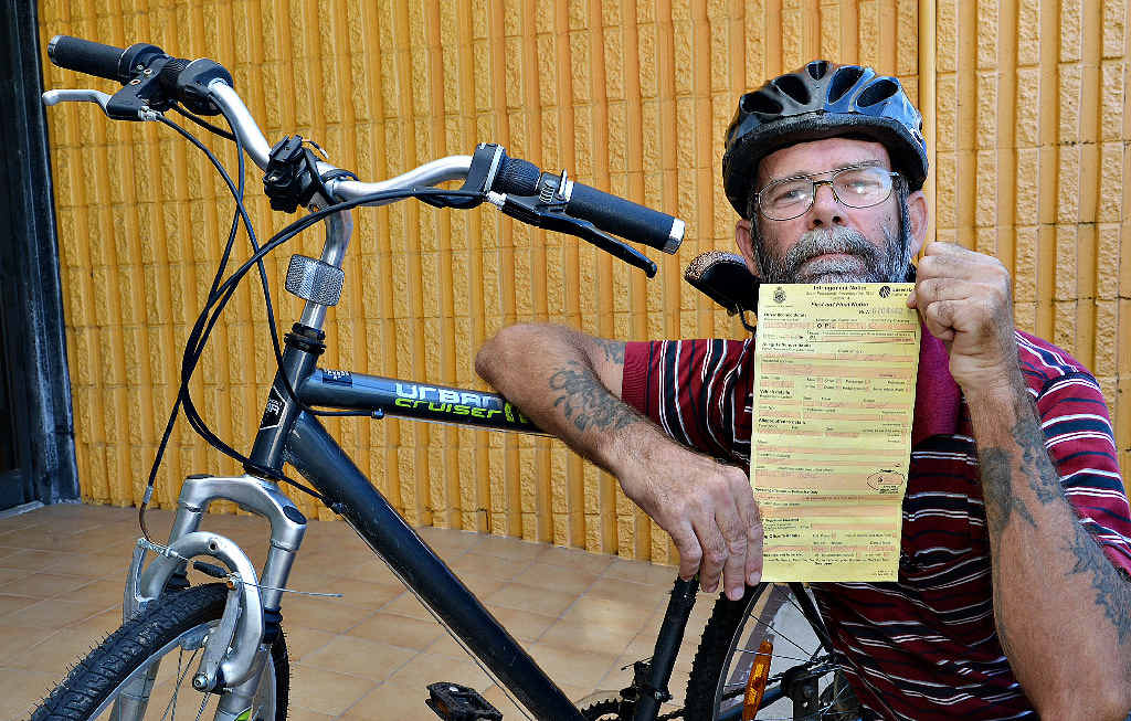 FINED: Scott Olsen is unhappy about copping a $44 fine for not having a bell on his bike.