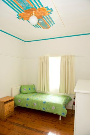 Local artist Kathy Pollit repainted the ornate plaster ceilings in the Ladies Wing in colours selected for their healing qualities.