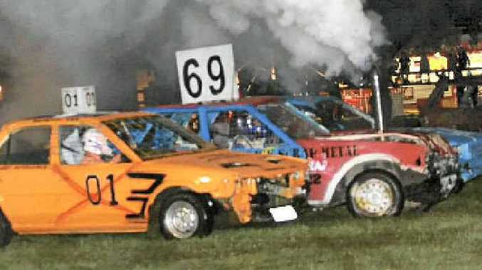 Some of the action from last year's show will be seen again on Saturday night, like the smash up derby which is always popular.