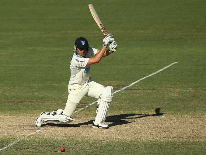 Moises Henriques of the Blues bats during day two of the Sheffield Shield match between the NSW Blues and the WA Warriors at Blacktown International Sportspark on January 25, 2013 in Sydney, Australia.