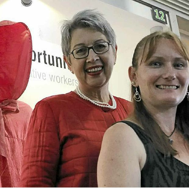 FACING DOWN THE WOLF: Lismore Mayor Jenny Dowell opens Tammy Allen's Window of Opportunity exhibition in the Star Court Arcade.