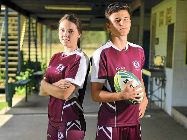 IN TOUCH: Justin Cridland and Isobelle Collocott have high hopes of making the Capricornia Secondary Schools touch team.