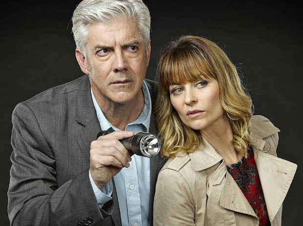 Shaun Micallef and Kat Stewart star in Channel Ten's new show, Mr and Mrs Murder.